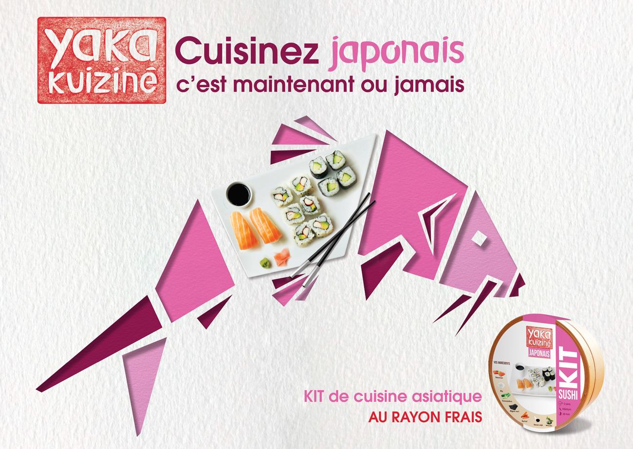 Affiche carpe 4 par 3 plat japonais yaka kuiziné