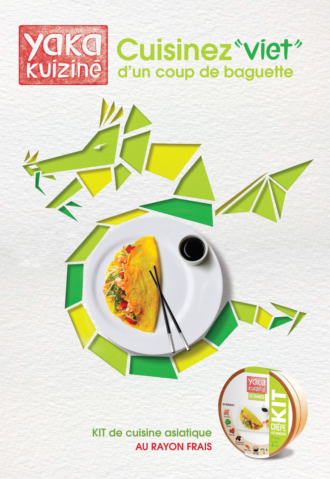 Affiche dragon format sucette plat vietnamien yaka kuiziné