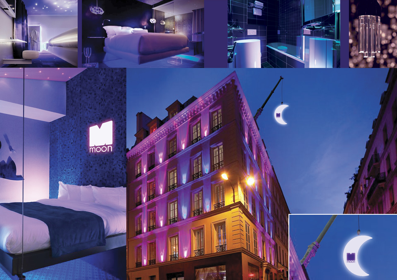 Planche tendance hôtel Moon