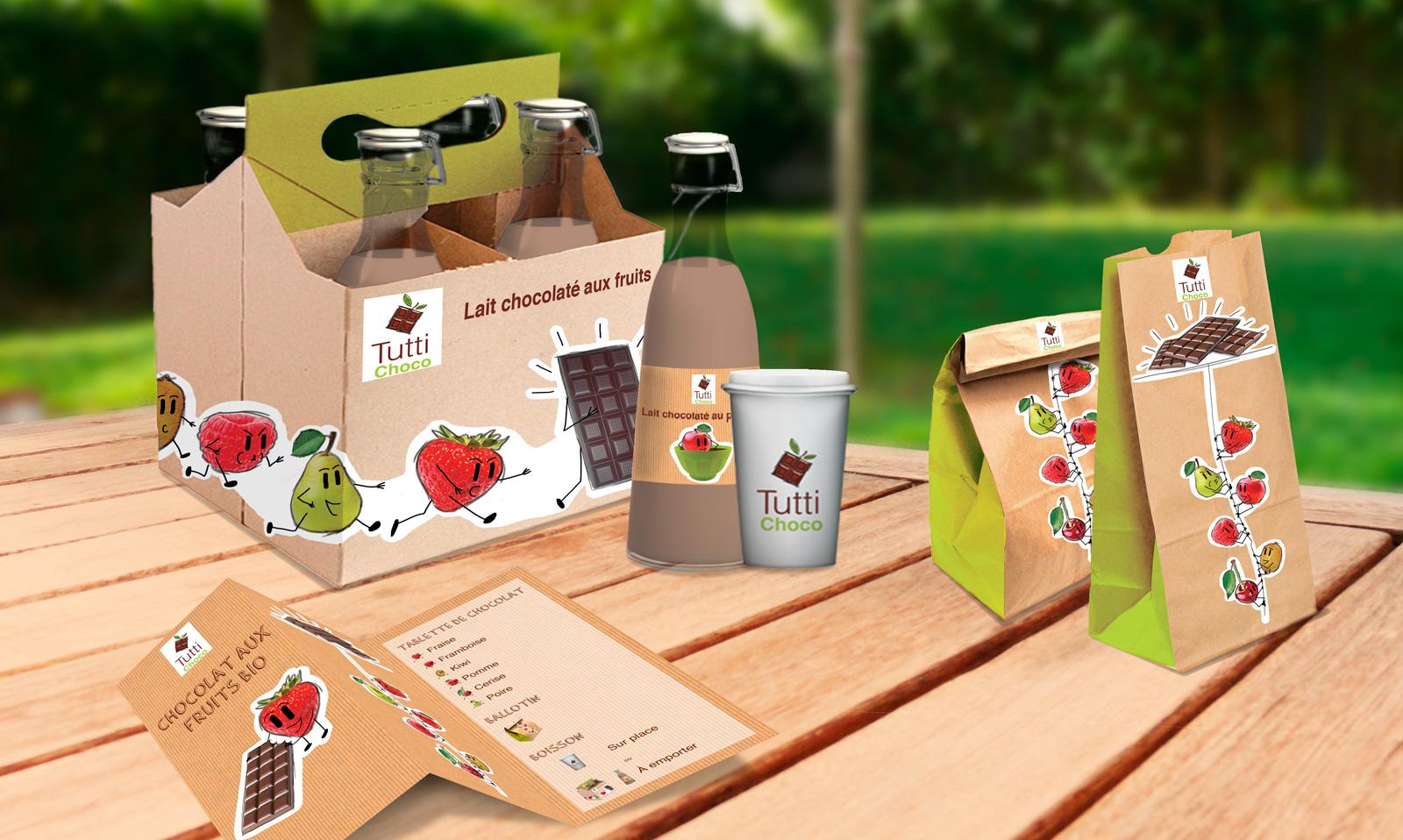 packagings gamme de produits tutti choco
