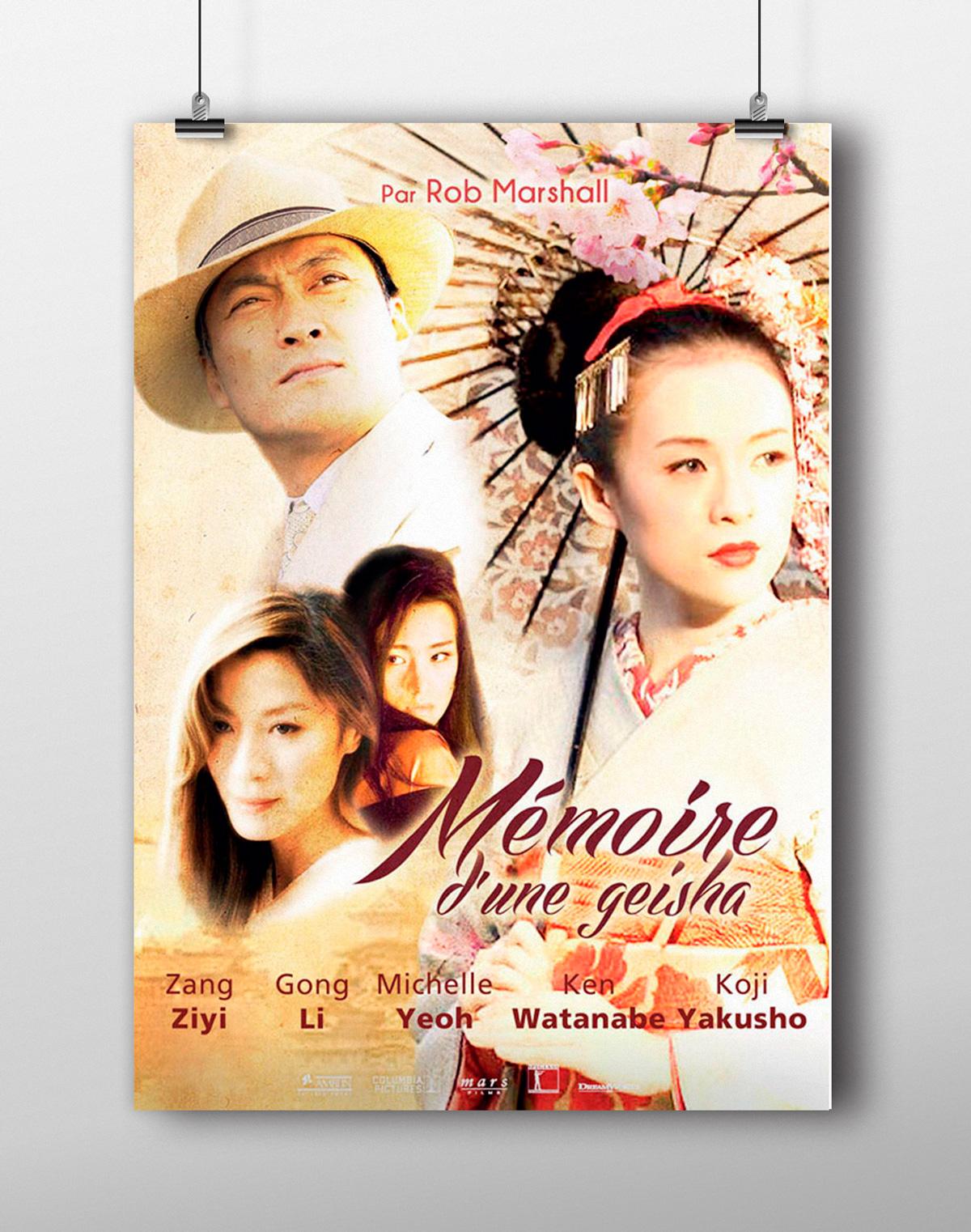 Affiche de film mémoire d'une geisha