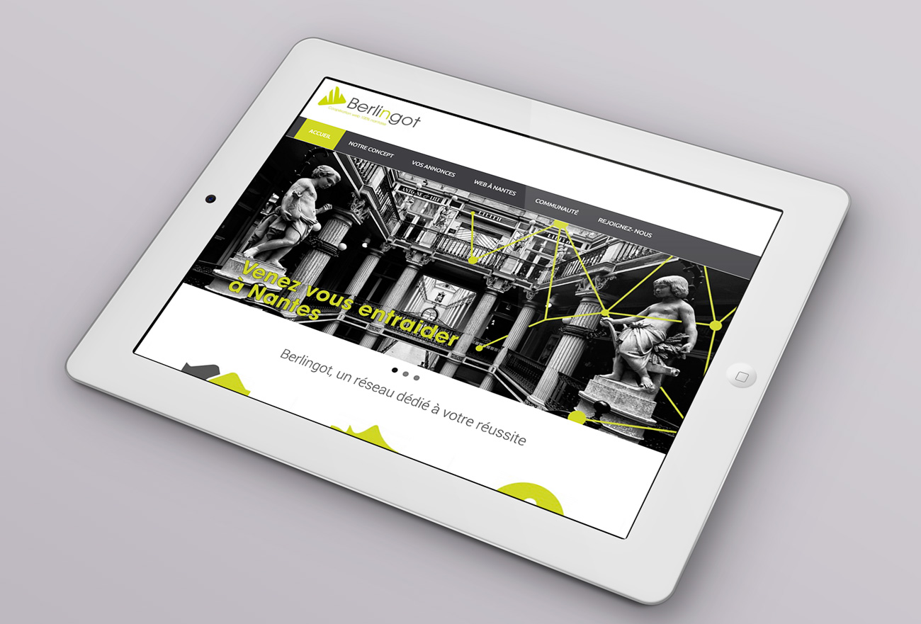 Webdesign tablette berlingot