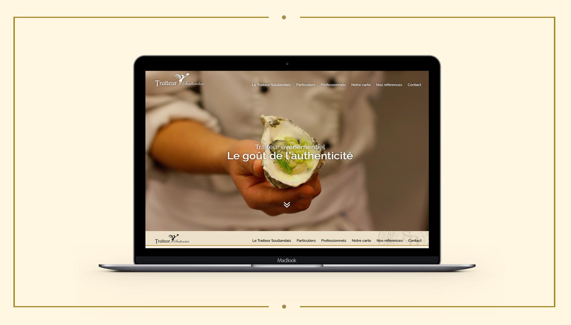 Webdesign site internet Traiteur Soullandais